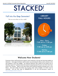 Fall 2012 Library Newsletter
