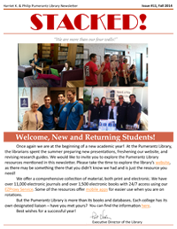 Fall 2014 Library Newsletter
