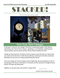 Spring 2018 Library Newsletter